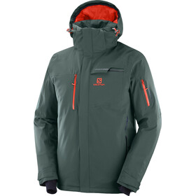Salomon Brilliant Chaqueta Hombre, green gab